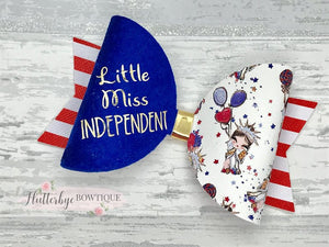4th July Bow, Independence Day Hair Bow - Flutterbye Bowtique