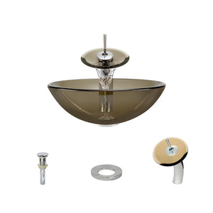 P106 Taupe-C Bathroom Waterfall Faucet Ensemble by Polaris