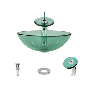 P106 Emerald-C Bathroom Waterfall Faucet Ensemble by Polaris