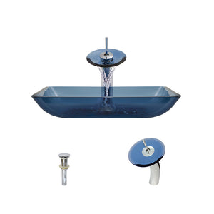 P046 Aqua-C Bathroom Waterfall Faucet Ensemble by Polaris