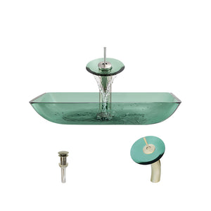 P046 Emerald-BN Bathroom Waterfall Faucet Ensemble by Polaris