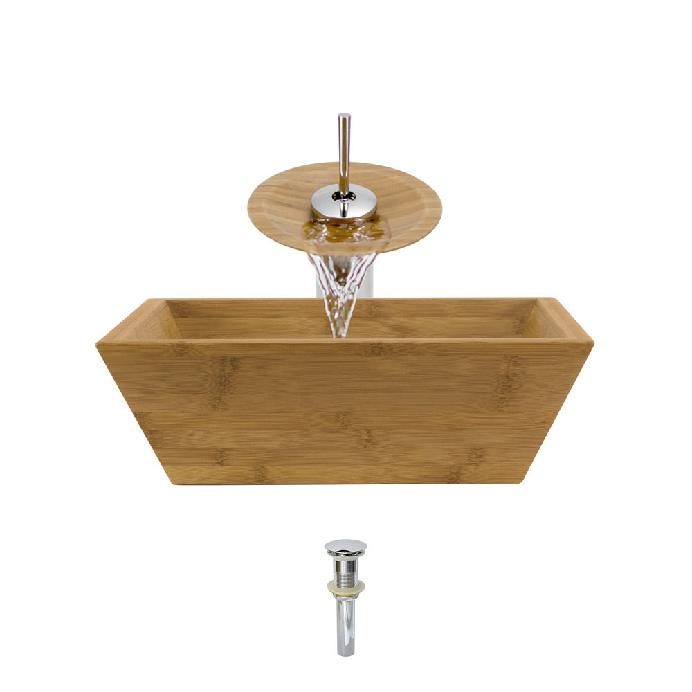 P098-C Bathroom Waterfall Faucet Ensemble by Polaris