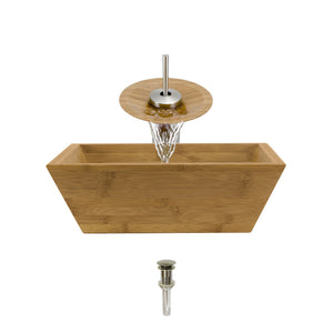 P098-BN Bathroom Waterfall Faucet Ensemble by Polaris
