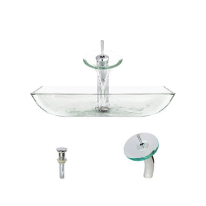 P046 Crystal-C Bathroom Waterfall Faucet Ensemble by Polaris