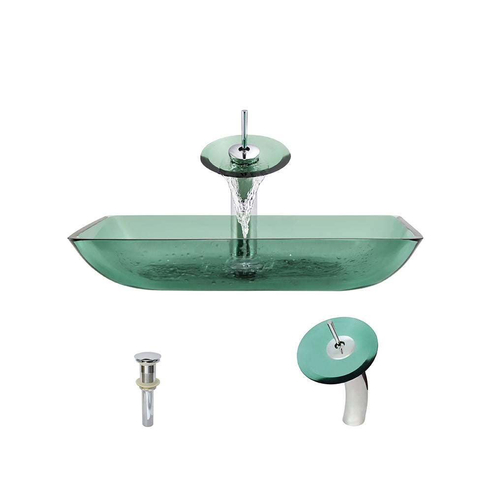 P046 Emerald-C Bathroom Waterfall Faucet Ensemble by Polaris