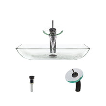 P046 Crystal-ABR Bathroom Waterfall Faucet Ens by Polaris