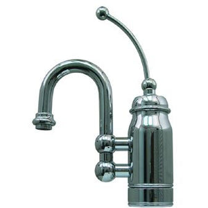 Whitehaus Baby Horizon Single Handle Entertainment/Prep Faucet with Curved Extended Stick Handle and Curved Swivel Spout