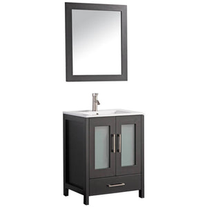 "MTD Vanities Argentina 30"" Single Sink Bathroom Vanity Set, Espresso"