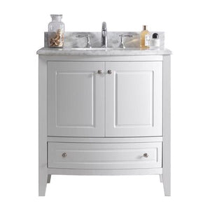 Estella 32 - White Cabinet + White Carrera Counter by Laviva