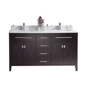 Wimbledon - 60 - Espresso Vanity and White Carrera Counter by Laviva