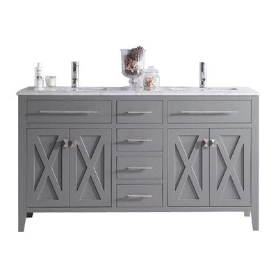 Wimbledon - 60 - Grey Vanity and White Carrera Counter by Laviva