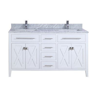 Wimbledon - 60 - White Vanity and White Carrera Counter by Laviva