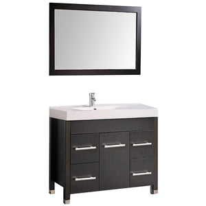 "MTD Vanities Greece 36"" Single Sink Bathroom Vanity Set, Espresso"