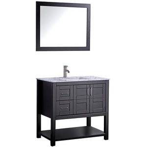 "MTD Vanities Norway 36"" Single Sink Bathroom Vanity Set, Espresso"