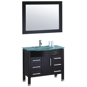 "MTD Vanities Figi 36"" Single Sink Bathroom Vanity Set, Espresso"