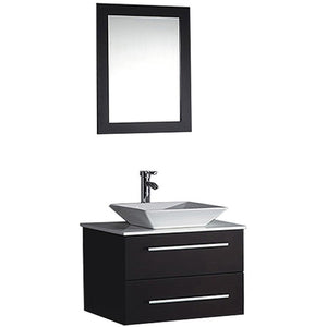"MTD Vanities Malta 36"" Single Sink Wall Mounted Bathroom Vanity Set, Espresso"