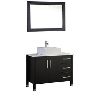 "MTD Vanities Aruba 40"" Single Sink Bathroom Vanity Set, Espresso"