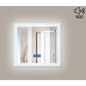 "MTD Vanities Encore BLU102 LED Illuminated Bathroom Mirror with Built-In Bluetooth Speaker with Blue screen - 48"" x 27"""