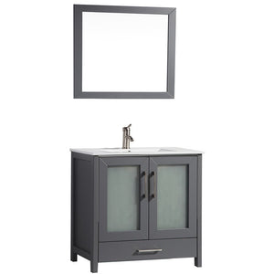 "MTD Vanities Argentina 48"" Single Sink Bathroom Vanity Set, Grey"