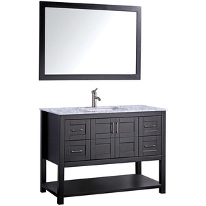 "MTD Vanities Norway 48"" Single Sink Bathroom Vanity Set, Espresso"