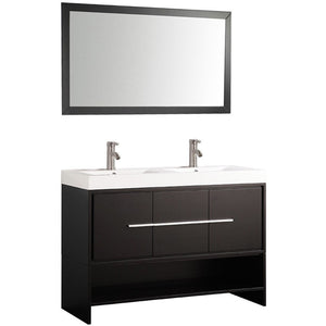 "MTD Vanities Belarus 48"" Double Sink Bathroom Vanity Set, Espresso"