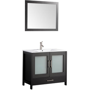 "MTD Vanities Argentina 48"" Single Sink Bathroom Vanity Set, Espresso"