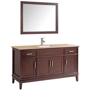 "MTD Vanities Sierra 48"" Single Sink Bathroom Vanity Set, Tobacco"