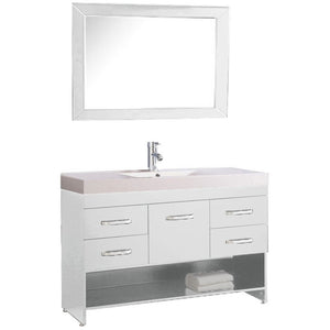 "MTD Vanities Greece 48"" Single Sink Bathroom Vanity Set, White"