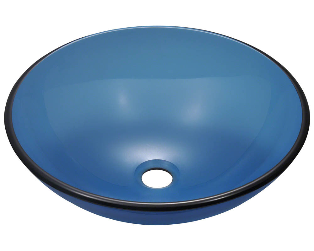 P106A Colored Glass Vessel Sink by Polaris