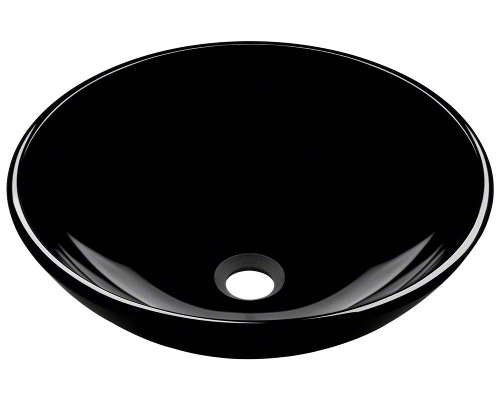 P106BL Dark Colored Glass Vessel Sink by Polaris