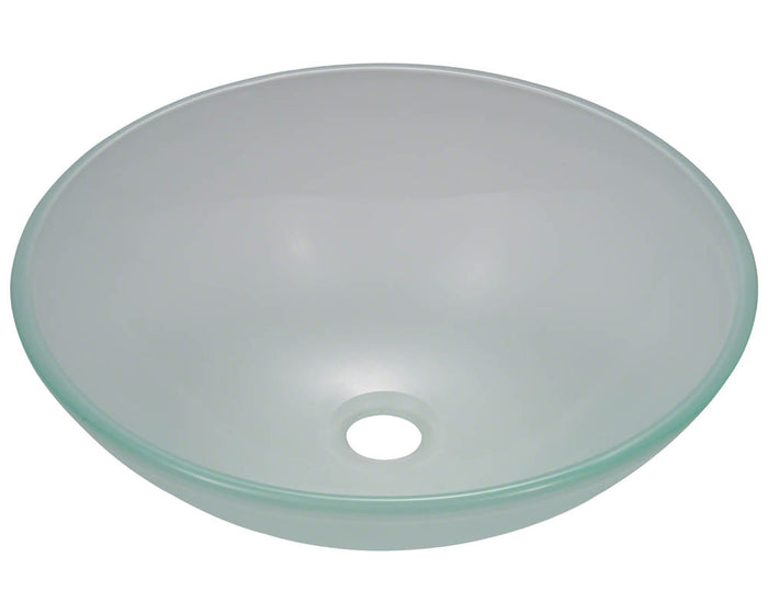P206 Frosted Glass Vessel Sink by Polaris
