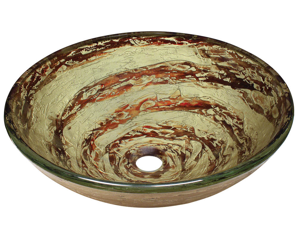 P136 Foil Undertone Glass Vessel Sink by Polaris
