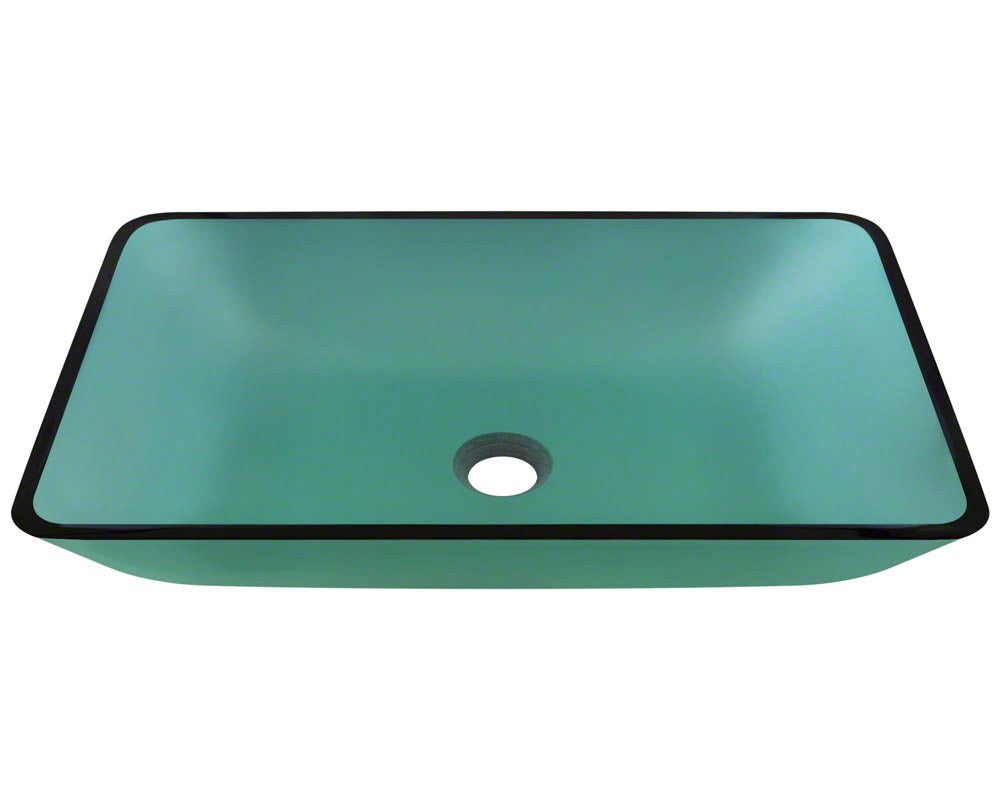P046E Colored Glass Vessel Bathroom Sink by Polaris