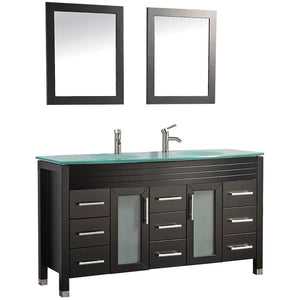 "MTD Vanities Figi 71"" Double Sink Bathroom Vanity Set, Espresso"