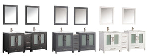 "MTD Vanities Argentina 72"" Double Sink Bathroom Vanity Set, Espresso"