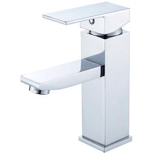 "MTD Vanities Atlantis 6- 3/4"" Single Hole Lever Handle Bathroom Faucet in Polished Chrome"