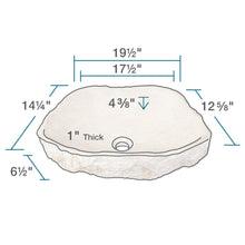 P078 Galaga Beige Marble Vessel Sink by Polaris