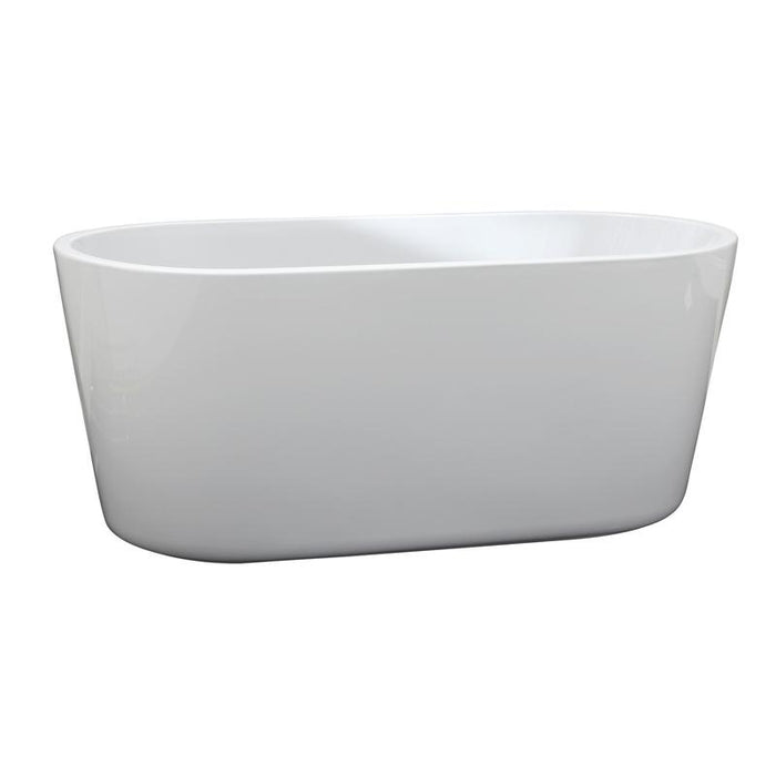 White Acrylic Oval Freestanding Soaker Bathtub - Barclay Ogden - 55in