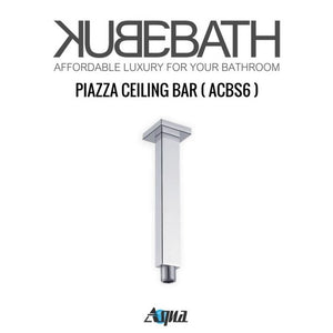 "KubeBath Aqua Piazza Shower Set with 12"" Ceiling Mount Square Rain Shower, Handheld And Tub Filler"