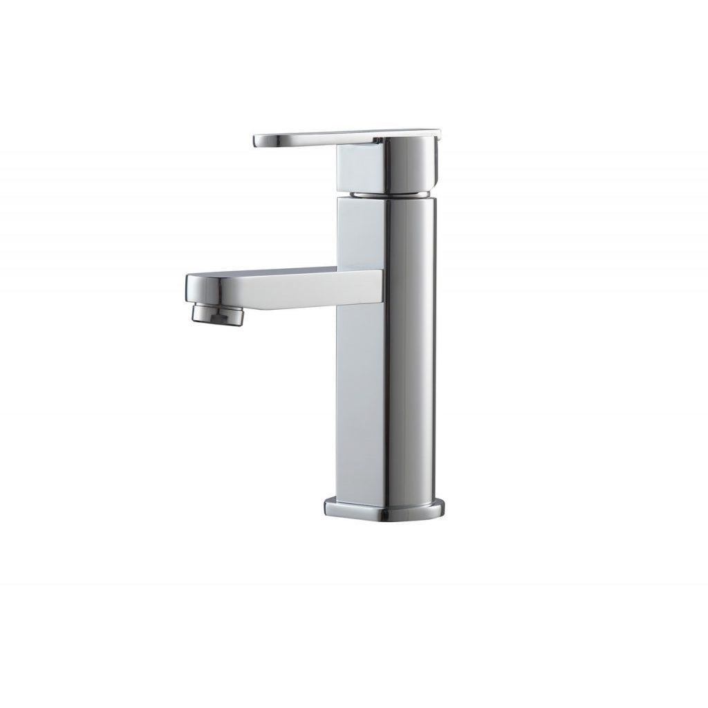 KubeBath Aqua Rondo Single Hole Mount Vanity Faucet - Chrome