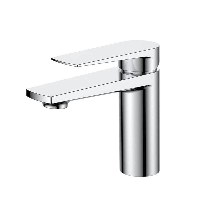 Aqua Letti Single Lever Vanity Faucet in Chrome by KubeBath