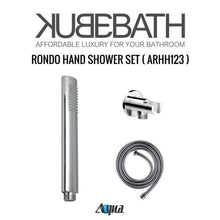 "KubeBath Aqua Rondo Shower Set W/ 8"" Rain Shower, Handheld And Tub Filler"