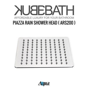 "KubeBath Aqua Piazza Shower Set With 8"" Square Rain Shower And Tub Filler"