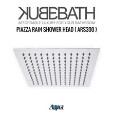 "KubeBath Aqua Piazza Shower Set With 12"" Ceiling Mount Square Rain Shower, Tub Filler And 4 Body Jets"