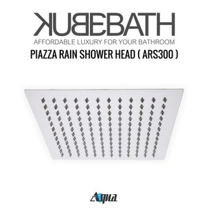 "KubeBath Aqua Piazza Shower Set with 12"" Ceiling Mount Square Rain Shower And Handheld"