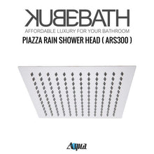 "KubeBath Aqua Piazza Shower Set with 12"" Ceiling Mount Square Rain Shower And 4 Body Jets"