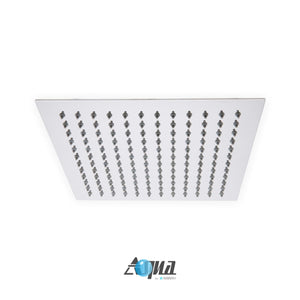 "KubeBath Aqua Piazza 12"" Super Slim Square Rain Shower Head"