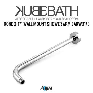 "KubeBath Aqua Rondo Shower Set W/ 12"" Rain Shower And Handheld"