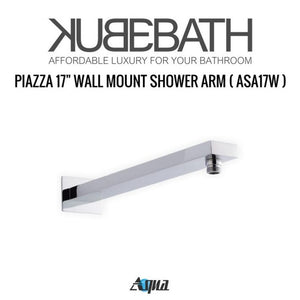 "KubeBath Aqua Piazza Shower Set with 12"" Square Rain Shower, Tub Filler And 4 Body Jets"