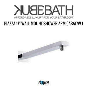 "KubeBath Aqua Piazza Shower Set With 12"" Square Rain Shower And Tub Filler"
